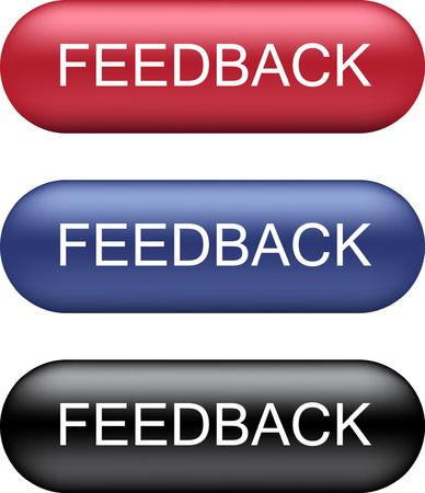 Feedback Button Collection Vector illustration.