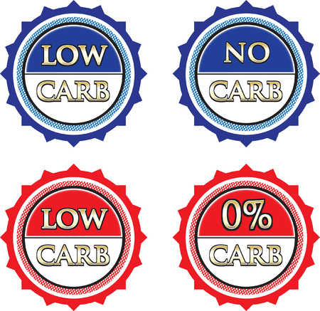 No Carb Product Label Collection