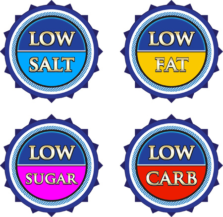 Low Salt Fat Sugar And Carb Product Labels