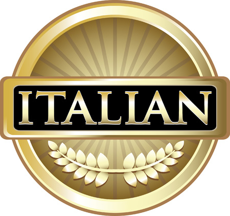 Italian Gold Label Icon Illustration