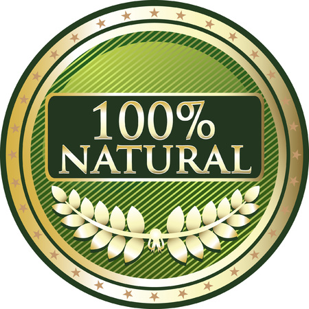 One Hundred Percent Natural Icon Ilustração