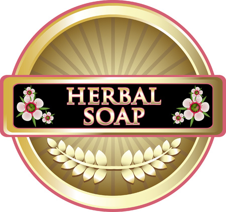 Herbal Soap Product Label