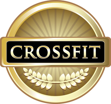 Crossfit text on Gold Label Icon