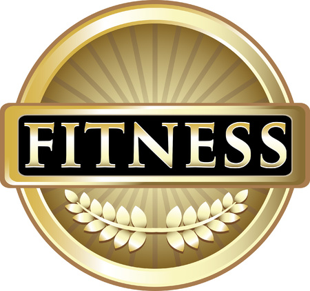 Fitness Gold Label Icon