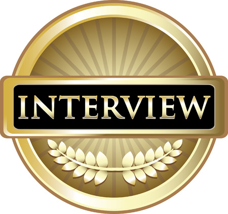 Interview Gold Label Icon Çizim