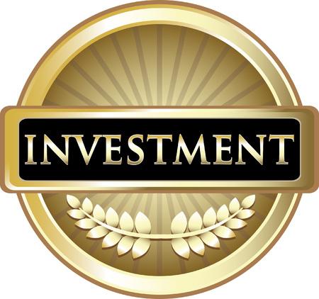 Investmnet Gold Label Icon Illusztráció