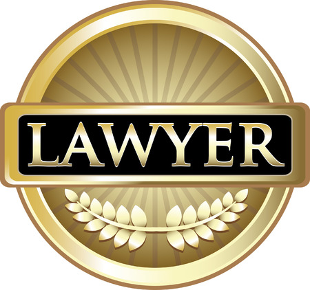 Lawyer Gold Label Icon