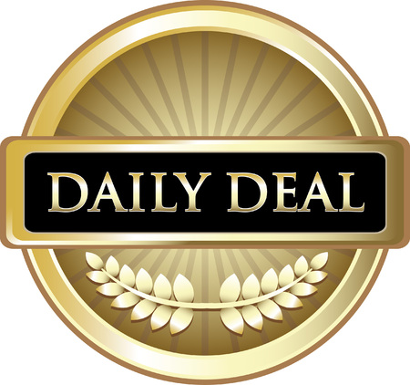 Daily Deal Gold Label Icon Çizim