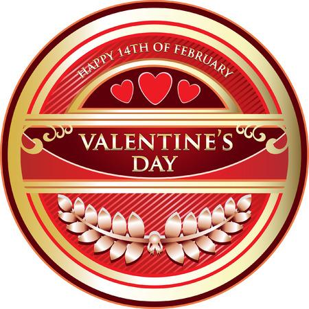 Valentines Day Label Icon Illusztráció