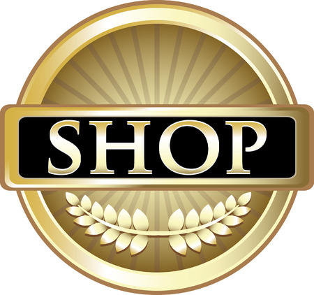 Shop Gold Label Icon