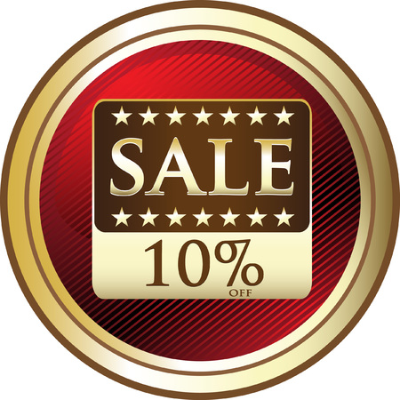 Ten Percent Sale Advertising Icon