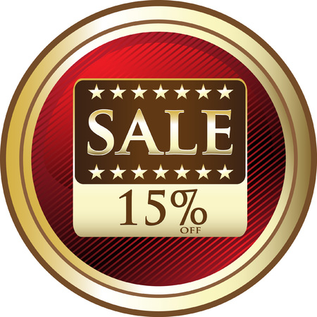 Fifteen Percent Sale Advertising Icon
