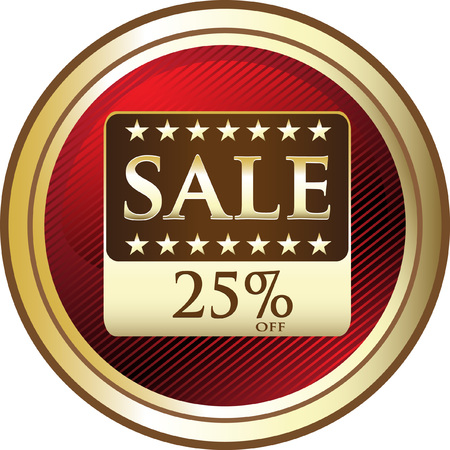 Twenty Five Percent Off Price Sale Icon Illusztráció
