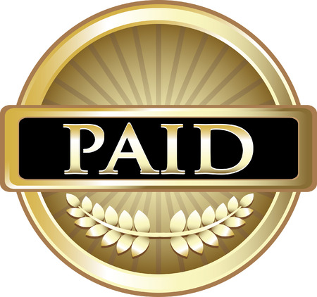 Paid Gold Label Icon