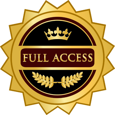 Full Access text on Gold Icon