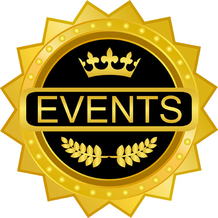 Events Gold Badge Icon Çizim