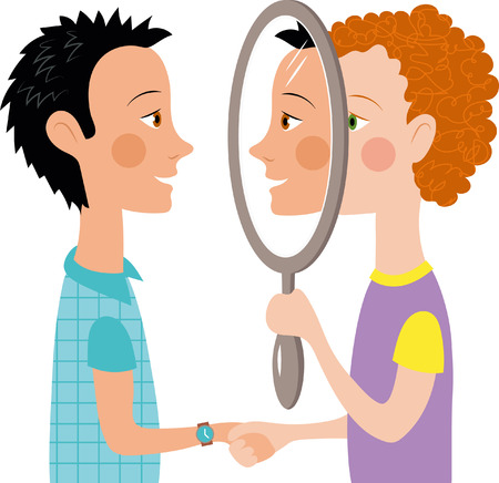 Dialogue two people mirror communication