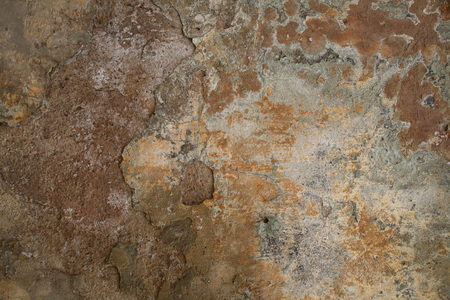 Texture of old rusty shabby moldy wall background