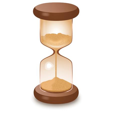 Hourglass sandglass isolated on white vector illustration.