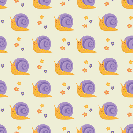 Cartoon snails pattern.
