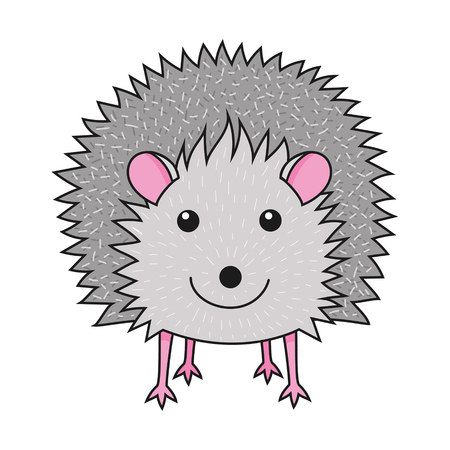 Cute smiling hedgehog art print