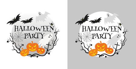 Halloween party invitation card vector illustration Illustration