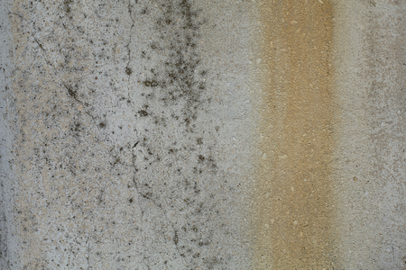 Old gray rusty rough concrete wall texture Stock Photo