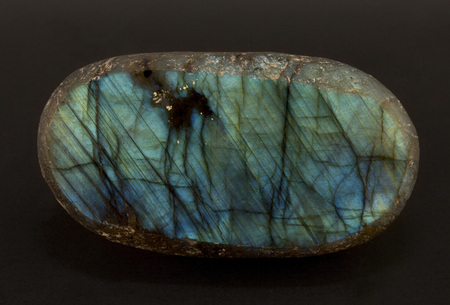 Beautiful shimmering slice of the mineral labradorite
