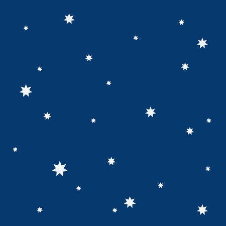 Beautiful simple night starry sky seamless pattern Stock Vector - 98613976