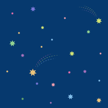 Beautiful simple night starry sky seamless pattern Stock Vector - 98546851