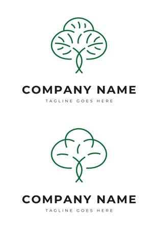 Beautiful decorative plant tree garden park logo change identity Illustration