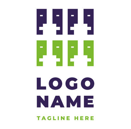 Two color logo identity with two emotional faces for couple therapy solving relationship communication problems