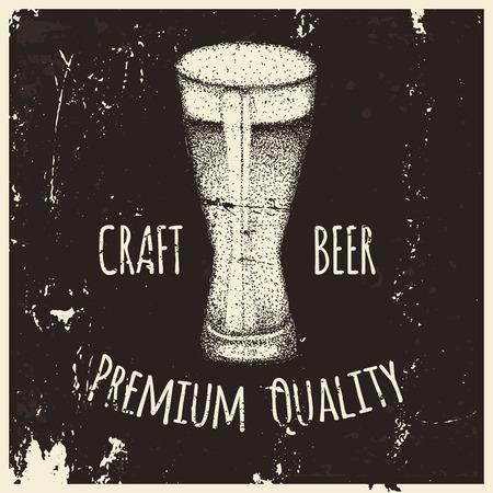 brewery  hops: Vintage style beer sketch. Hand drawn vector illustration.