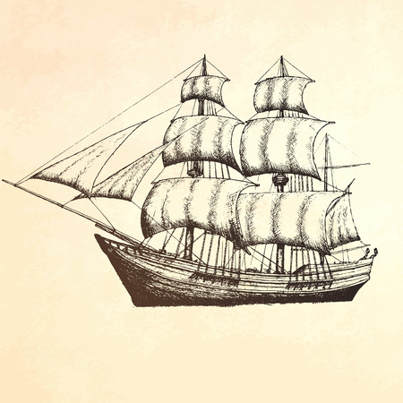 vintage ship: Vintage ship. Items on the marine theme.