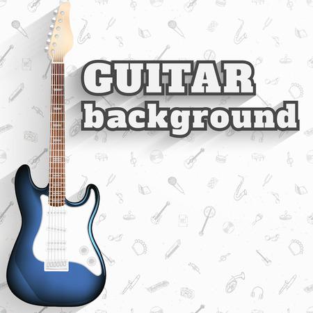 music pattern: Electric guitar background. Music pattern vector illustration. Illustration