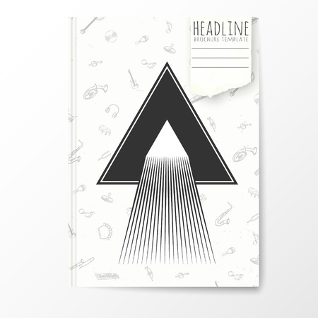 notebook cover: Notebook template with abstract triangle cover. Vector illustration.