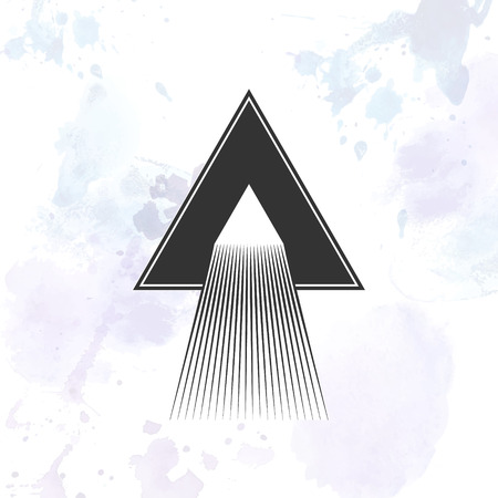 dispersion: Dispersion abstract triangle illustration. Vector isolated
