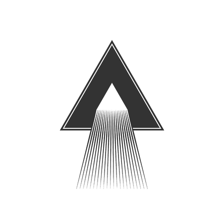 dispersion: Dispersion abstract triangle illustration.