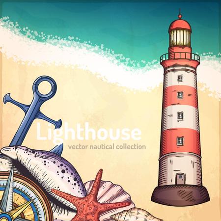 pirate crew: Nautical illustrations set.