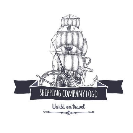 marine industry: Shipping company vector.