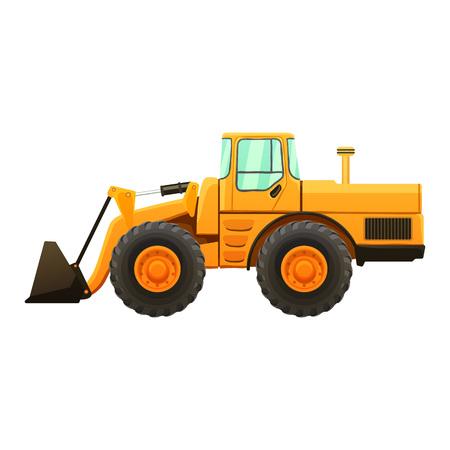 movers: Construction equipment vector illustration.