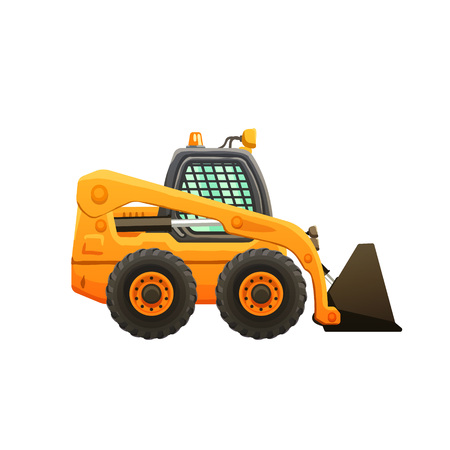 Loader vector cartoon isolated illustration. Çizim