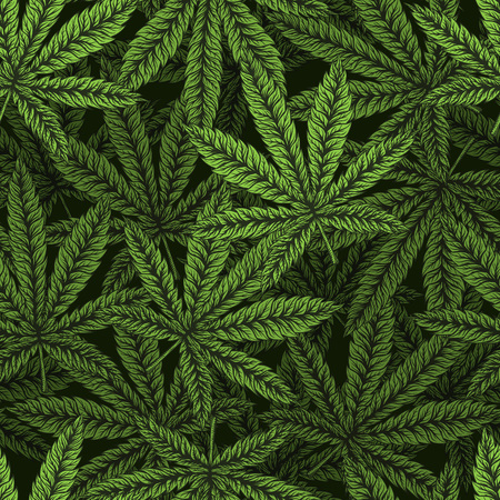 Marijuana leaves seamless pattern. Иллюстрация