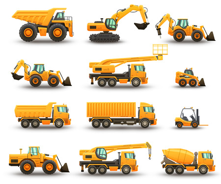 Construction machinery set