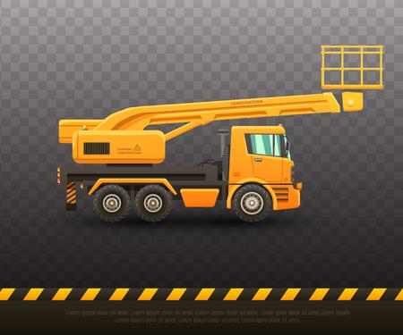 Detailed vector illustration of lift truck.