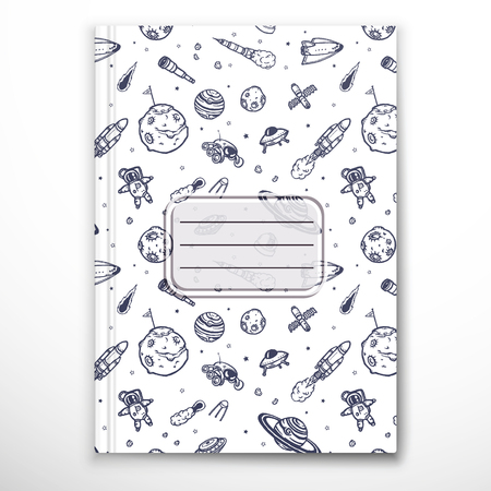 Notebook cover template 向量圖像