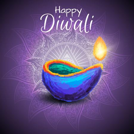 Diwali festival celebration illustration.