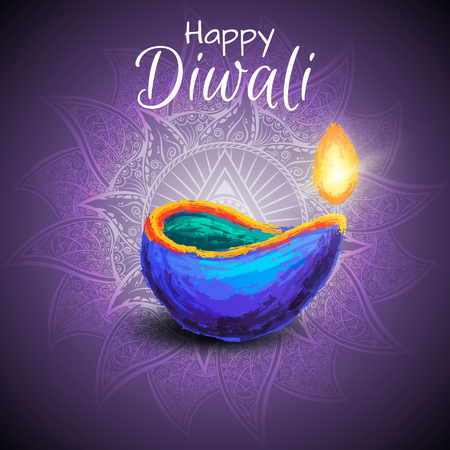 Diwali festival celebration illustration. Illustration