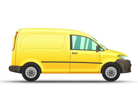 Vector illustration of realistic van on a white background.