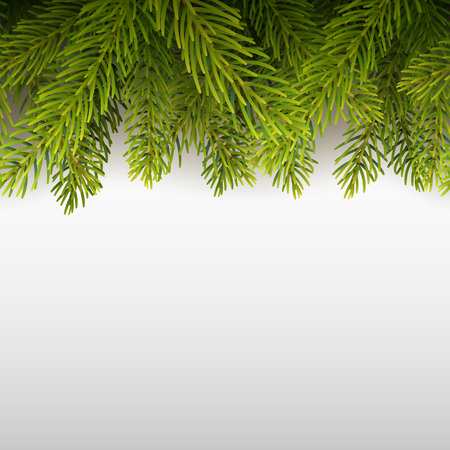Vector eps10 isolated seamless background with realistic Christmas tree. 向量圖像